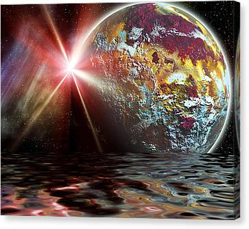 Planet Zorcon Canvas Print by Camille Lopez