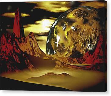 Planetary Canyon Fog Canvas Print by Mario Carini