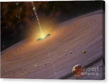 Planetary Disk II V2 Canvas Print by Lynette Cook