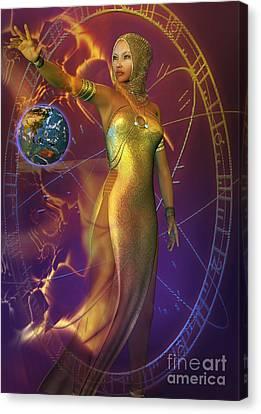 Planetary Energy Canvas Print by Shadowlea Is