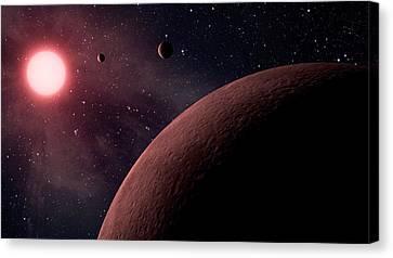 Planetary System Koi-961 Canvas Print by Movie Poster Prints