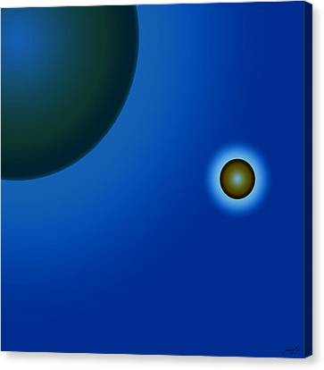 Planets Of Mercy Canvas Print by Sir Josef - Social Critic - ART
