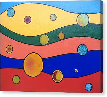 Planets Canvas Print by Steve  Hester