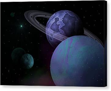 Planets Vs. Dwarf Planets Canvas Print by Ricky Haug