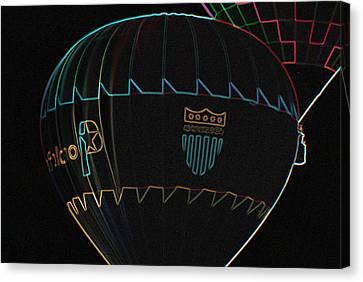 Plano Balloon In Neon Canvas Print