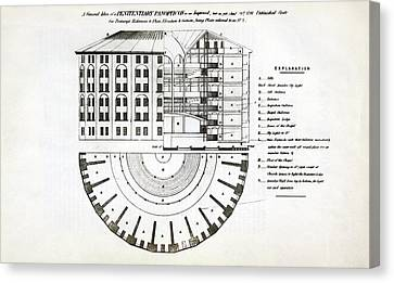 Plans For A Panopticon Prison Canvas Print by British Library