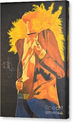 Robert Plant Performance Art Canvas Print - Plant II by Stuart Engel