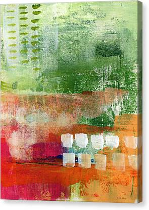 Plantation- Abstract Art Canvas Print by Linda Woods