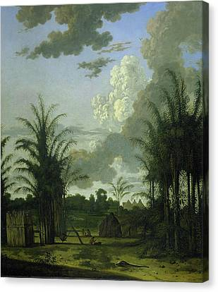 Plantation Canvas Print - Plantation In Suriname, Dirk Valkenburg by Litz Collection