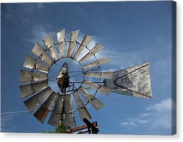 21st Century Canvas Print - Plantation Windmill by Jim West