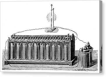 Plante Accumulator Battery Canvas Print