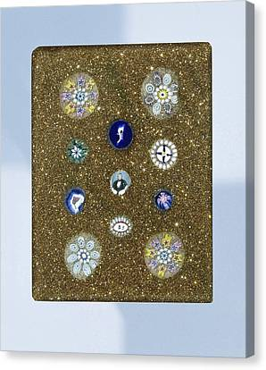 Plaque Of Aventurine Glass, With Eleven Rosettes Canvas Print
