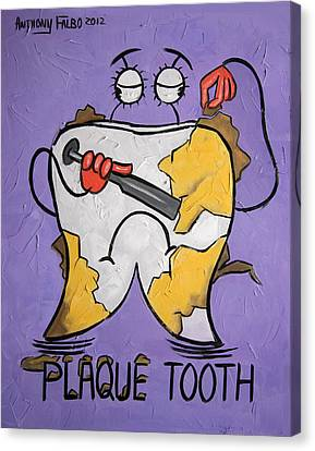 Plaque Tooth Canvas Print by Anthony Falbo