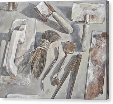 Plasterer Tools 1 Canvas Print by Anke Classen
