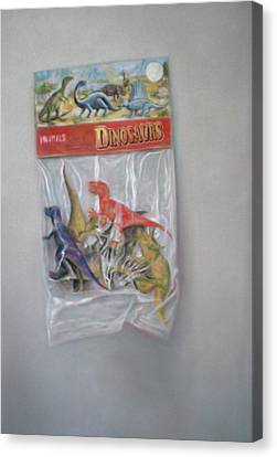 Plastic Dinosaurs  Canvas Print