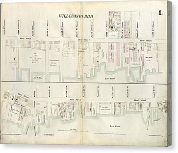 Plate 1 Canvas Print - Plate 1 Map Bounded By North 12th Street, 1st Street, North by Litz Collection