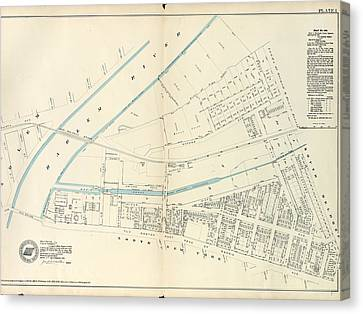 Plate 1 Canvas Print - Plate 1 Map No. 441 Bounded By Fourth Avenue by Litz Collection
