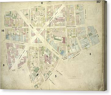 Plate 10 Map Bounded By James Street, South Street, Dover Canvas Print by Litz Collection