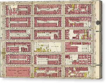 Plate 107 Bounded By E. 71st Street, Avenue Canvas Print by Litz Collection