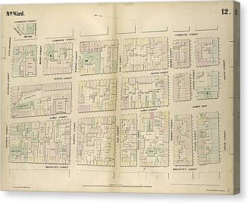 Plate 12 Map Bounded By Chatham Street, East Broadway Canvas Print