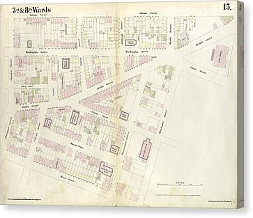 Plate 15 Map Bounded By Pineapple Street, Fulton Avenue Canvas Print