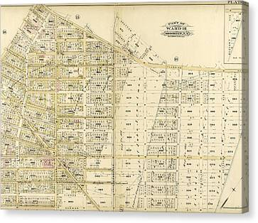 Plate 17 Bounded By Flushing Avenue, Knickerbocker Avenue Canvas Print by Litz Collection