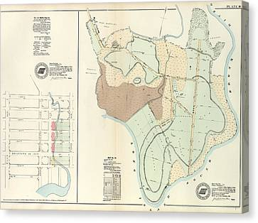 Plate 18 Vol. 4 Of Maps, Page 34 Bounded By 138th Street Canvas Print