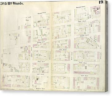 Plate 19 Map Bounded By Concord Street, Navy Street Canvas Print