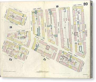 Sullivan Canvas Print - Plate 20 Map Bounded By Hamersley Street, Houston Street by Litz Collection