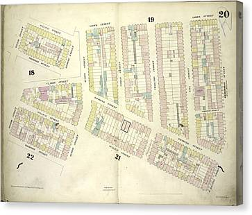 Plate 20 Map Bounded By Sullivan Street, Varick Street Canvas Print by Litz Collection