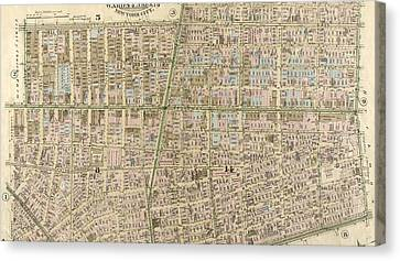 Plate 4 West Broadway, Canal Street, Sullivan Street Canvas Print by Litz Collection