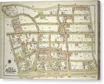 Plate 54, Part Of Section 11, Borough Of The Bronx. Bounded Canvas Print