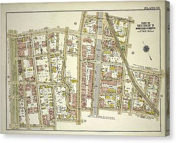 Plate 61, Part Of Section 11, Borough Of The Bronx. Bounded Canvas Print