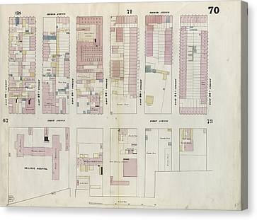 Plate 70 Map Bounded By East 32nd Street Canvas Print by Litz Collection