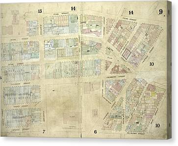 Chatham Canvas Print - Plate 9 Map Bounded By Pearl Street, Chatham Street by Litz Collection
