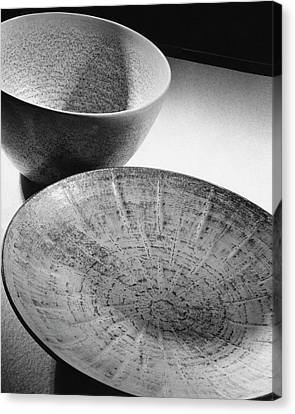 Plate And Bowl Canvas Print by Andre Kertesz
