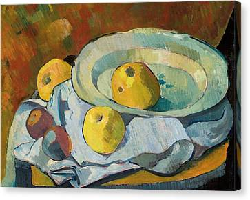 Plate Of Apples Canvas Print by Paul Serusier