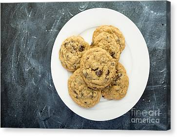 Toll House Canvas Print - Plate Of Chocolate Chip Cookies by Edward Fielding