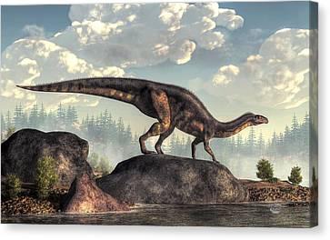Plateosaurus Canvas Print
