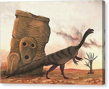 Plateosaurus Dinosaur Canvas Print by Nemo Ramjet