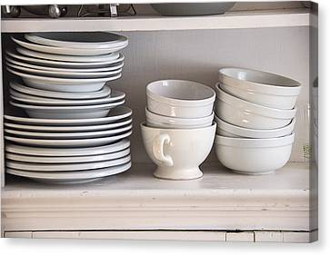 Plates And Bowls Canvas Print by Garry Gay
