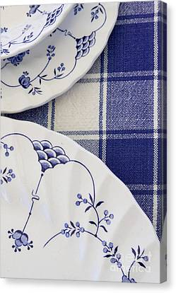 Plates And Platters Canvas Print by Margie Hurwich