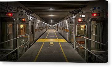 Platform Eight At Union Station Canvas Print by Adam Romanowicz
