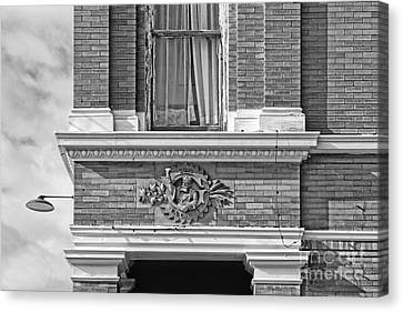 Plattsmouth Corner - Bw Canvas Print