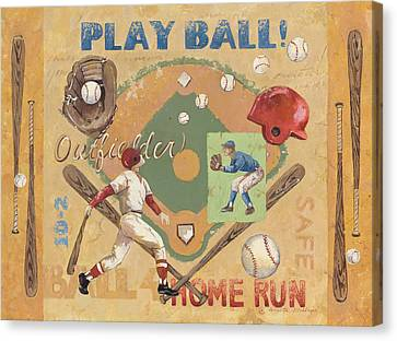 Play Ball Canvas Print by Anita Phillips