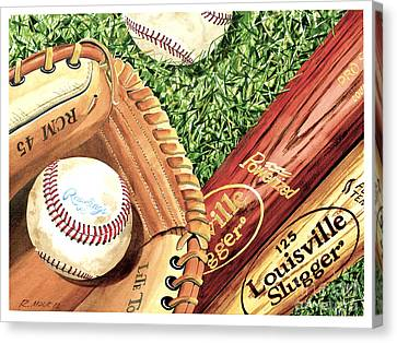 Play Ball Canvas Print by Rick Mock