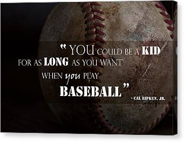 Play Baseball Canvas Print by Eugene Campbell