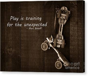Unexpected Canvas Print - Play Is Training For The Unexpected by Edward Fielding