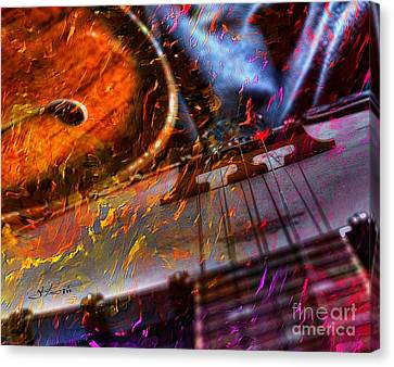 Play It Again Sam Digital Guitar And Banjo Art By Steven Langston Canvas Print by Steven Lebron Langston