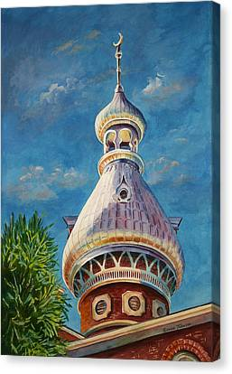 Canvas Print featuring the painting Play Of Light - University Of Tampa by Roxanne Tobaison